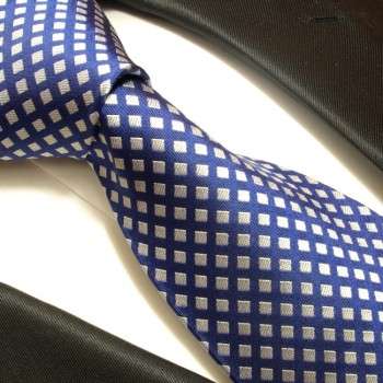 paul malone shop paul malone krawatte 100 seide blau silber 321. Black Bedroom Furniture Sets. Home Design Ideas