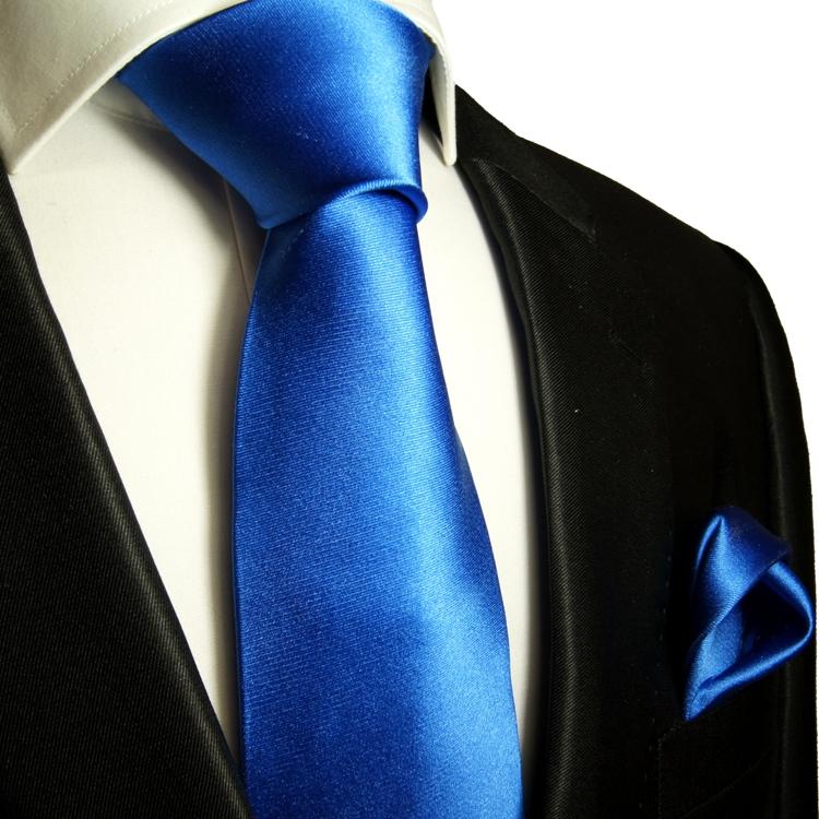 paul malone shop uni blaue krawatten set 2tlg seidenkrawatte einstecktuch 905. Black Bedroom Furniture Sets. Home Design Ideas