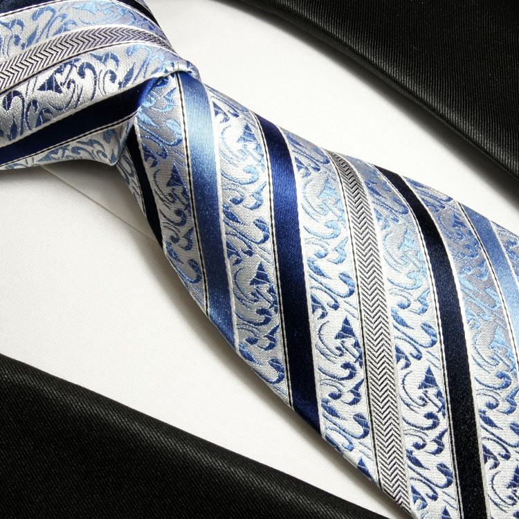 paul malone shop blau gestreifte krawatte 100 seidenkrawatte xl 165cm 718. Black Bedroom Furniture Sets. Home Design Ideas