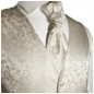 Preview: WEDDING VEST SET ivory and Wedding Shirt white V41HL8