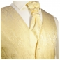 Preview: WEDDING VEST SET creme + SLIM LINE Shirt white V26HL30