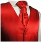 Preview: WEDDING VEST SET red and Smoking Shirt white V24HL25