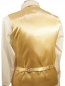 Preview: WEDDING VEST SET gold and Shirt Slim Fit white V97HL81