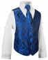 Preview: Boys suit black + blue vest set KA25+KV98