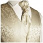 Preview: WEDDING VEST SET champagne + SLIM LINE Shirt white V18HL30