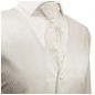 Preview: WEDDING VEST SET ivory + Wedding Shirt white V25HL8