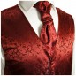 Preview: WEDDING VEST SET red and Shirt creme V95HL82
