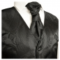 Preview: WEDDING VEST SET black + slim line shirt white V2HL30