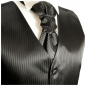Preview: WEDDING VEST SET black and Shirt Slim Fit white V21HL81