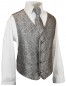 Preview: Boys tuxedo suit black + gray vest set KA20+KV30