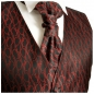 Preview: WEDDING VEST SET black red and Shirt Slim Fit creme V4HL82
