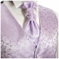 Preview: WEDDING VEST SET purple and Slim Line Shirt white V93HL30