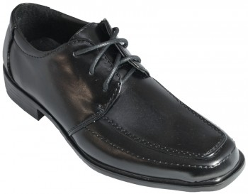 Festive lace-up boys shoes black