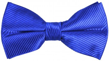 Men´s Bow Tie Pretied solid blue by Paul Malone