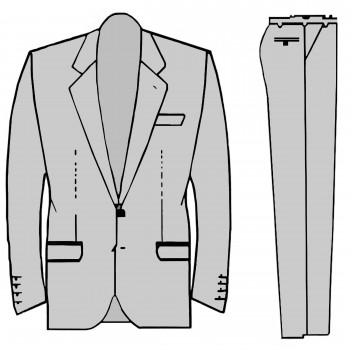 Wedding suit tuxedo draw