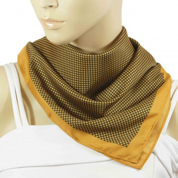 Paul Malone ladies scarf gold black checkered 2045