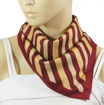 Paul Malone ladies scarf burgundy red gold striped 245