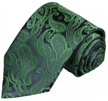 Paul Malone tie blue green necktie paisley v14
