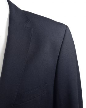 Mens dress suit blue jacket AMF stitch