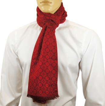 Men Scarf red checkered HS47