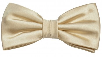 Men´s Bow Tie Pretied solid gold tan