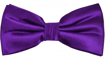 Men´s Bow Tie Pretied solid purple