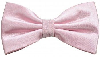 Men´s Bow Tie Pretied solid pink