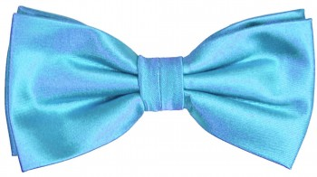 Men´s Bow Tie Pretied solid turquoise blue
