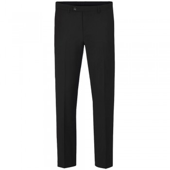 Mens pants black solid - suit pants trousers - 100% virgin wool