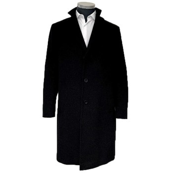 Winter wool coat for man anthracite - elegant