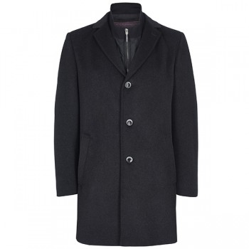 Winter coat for man anthracite uni wool