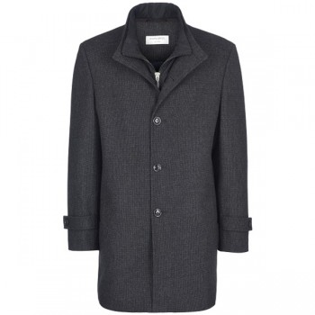 Man´s winter woll coat anthracite uni