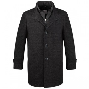 Winter Coat for man anthracite - wool jacket for man