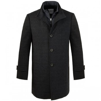 Winter Coat for man navy blue - wool jacket for man