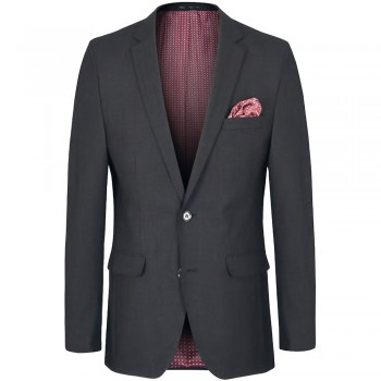 Mens dress jacket anthracite - slim fit - AMF stitch