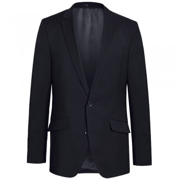 Mens suit jacket blue dress jacket for men - 100% virgin wool
