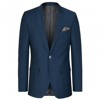 Mens suit jacket blue dress sports jacket - slim fit - stretch