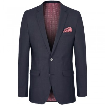 Mens dress jacket blue - slim fit - AMF stitch