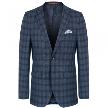 Mens sports jacket gray blue | slim fit dress jacket for men