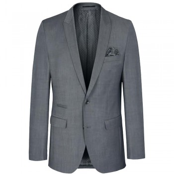 Mens sports jacket light gray | dress slim fit suit jacket for men | AMF stitch