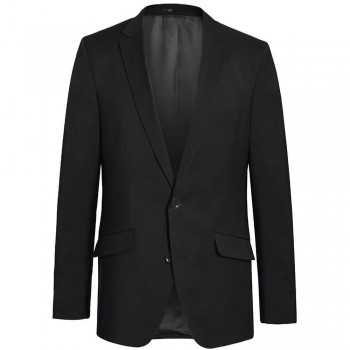 Mens suit jacket black dress jacket for men - 100% virgin wool