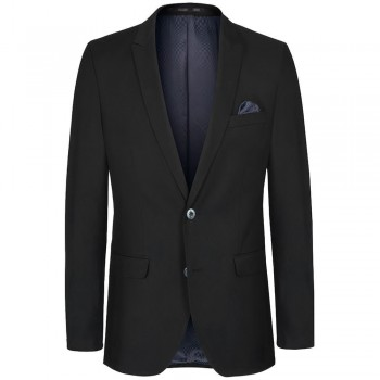 Mens suit jacket black dress for men | slim fit | AMF-stich