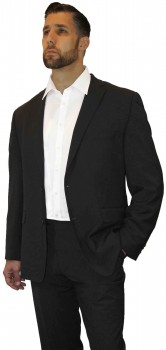 Black Wedding Suit with Shadow Stripes