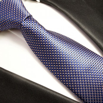 Blue Necktie 100% Silk Mens Tie by Paul Malone 393