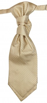 Cravat cappuccino brown striped | pre-tied wedding ascot tie PLv28