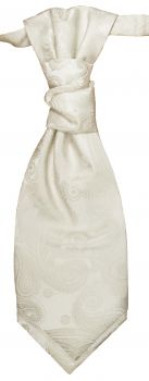 Wedding cravat ivory ascot tie