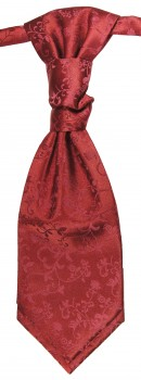 Burgundy red floral ascot tie for wedding v95