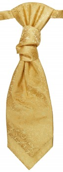Gold ascot tie for wedding v97
