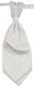 Cravat light ivory off-white | pre-tied wedding ascot tie 101
