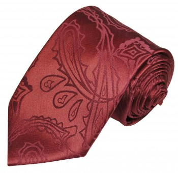 Paul Malone tie maroon red necktie paisley v1